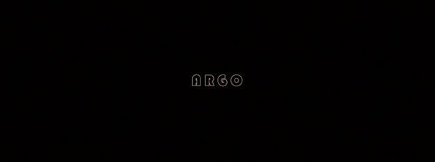 Argo - générique