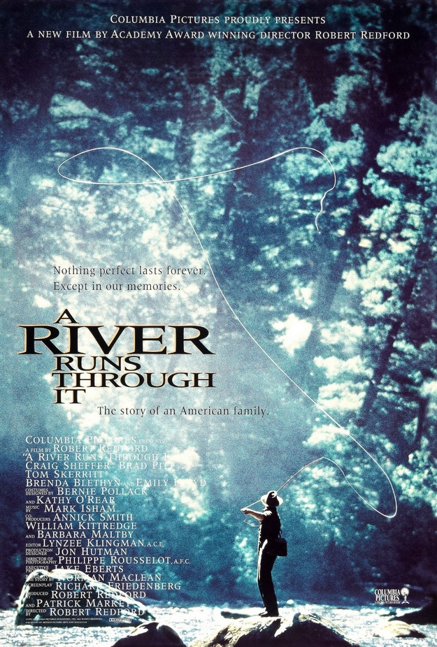 Et au milieu coule une rivière - affiche