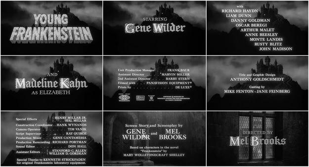 Frankenstein junior - générique