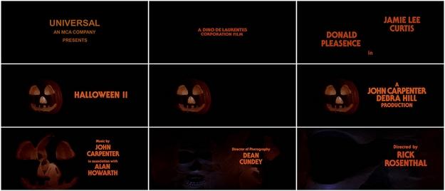 Halloween 2 - générique