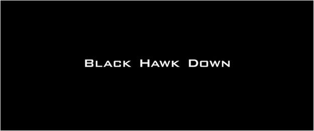 La chute du faucon noir - générique