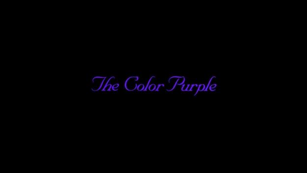 La couleur pourpre - générique