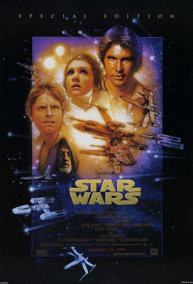 La guerre des étoiles - affiche de l'édition spéciale