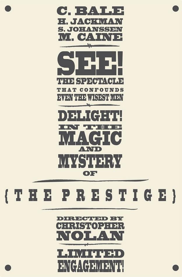 Le Prestige - affiche alternative
