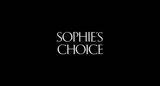 Le choix de Sophie - générique