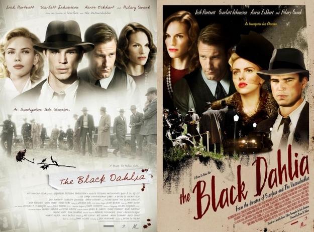 Le dahlia noir - affiches