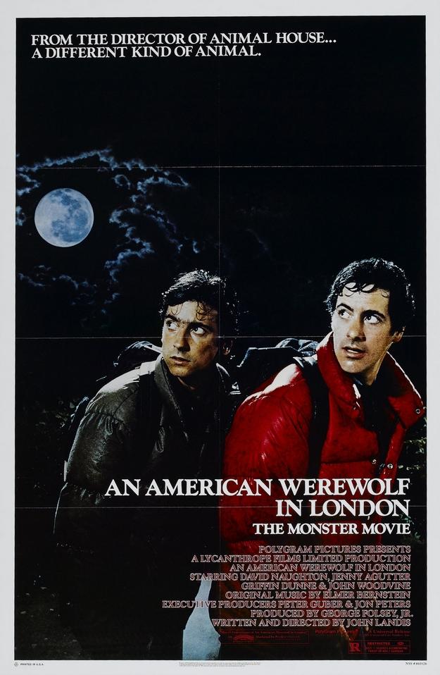 Le loup-garou de Londres - affiche