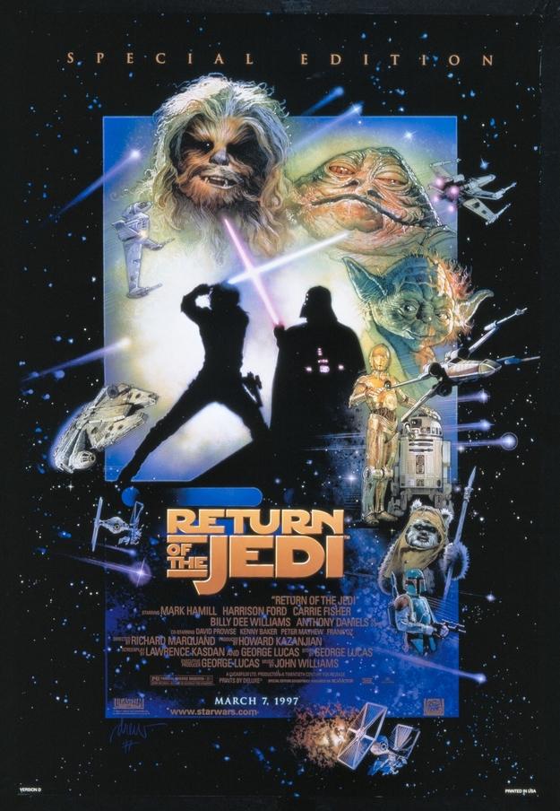 Le retour du Jedi - affiche de l'édition spéciale