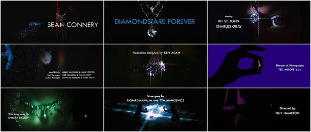Les diamants sont éternels - générique