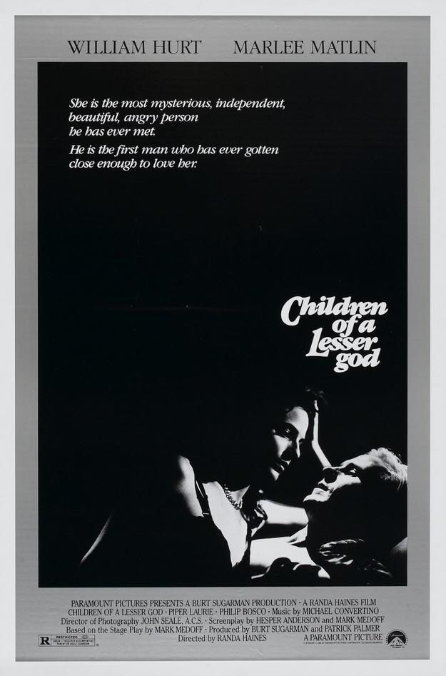 Les enfants du silence - affiche