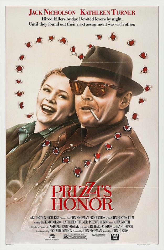 honneur des Prizzi - affiche
