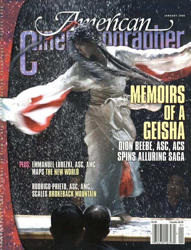 Mémoires d'une geisha - American Cinematographer