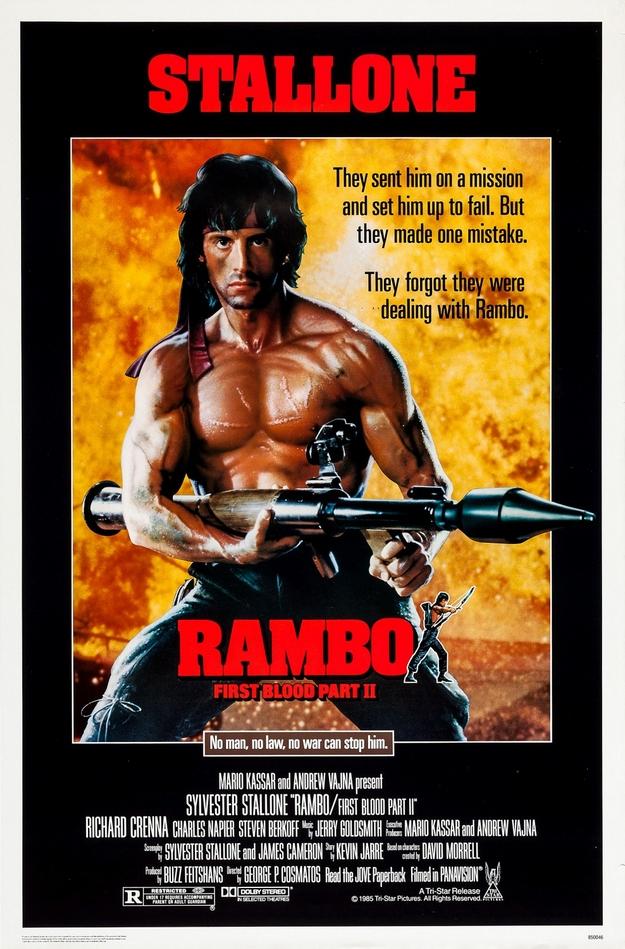 Rambo 2 - affiche