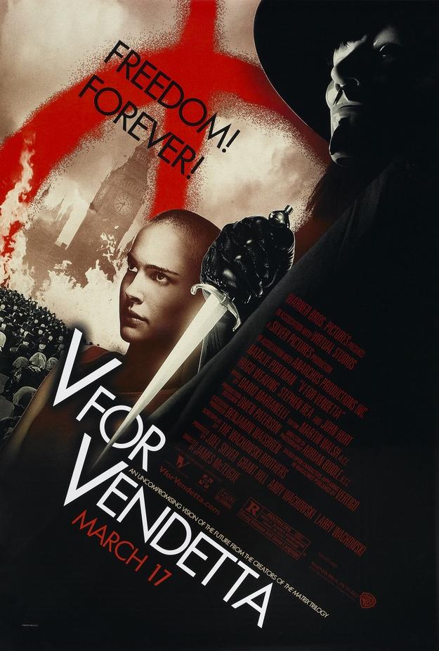 V pour vendetta - affiche