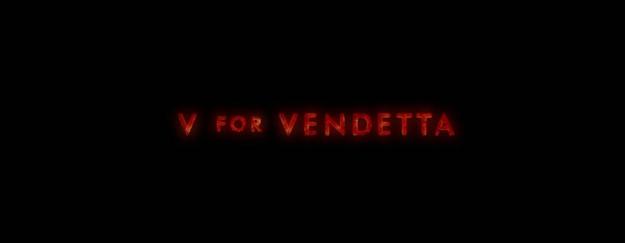 V pour vendetta - générique